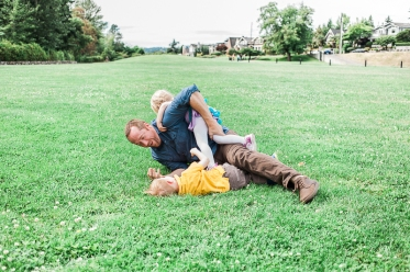 Genuine family moment